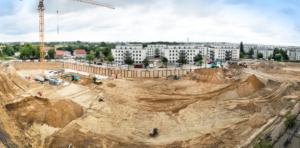 BUWOG NEUE MITTE SCHÖNEFELD - die Baustelle Anfang Juli 2020