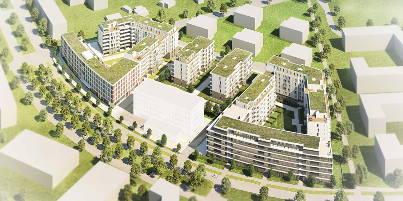 Visualisierung BUWOG Neue Mitte Schönefeld